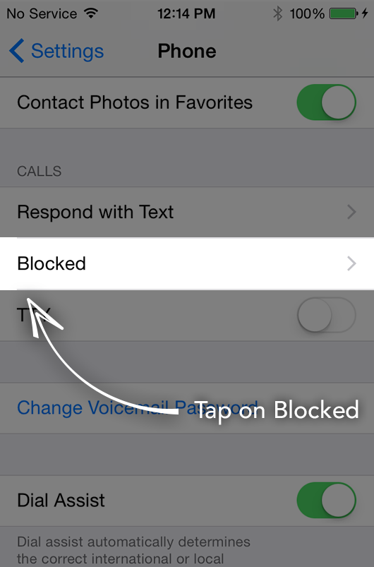 Manage blocked numbers Step 3