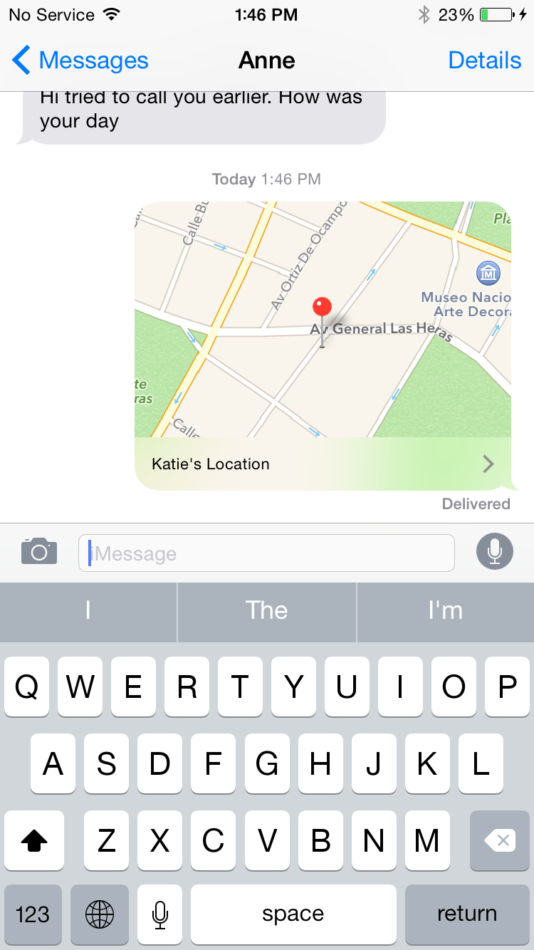iPhone Sharing Location Step 2