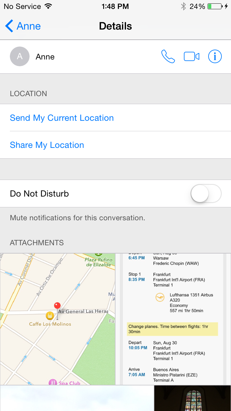 iPhone Sharing Location Step 1