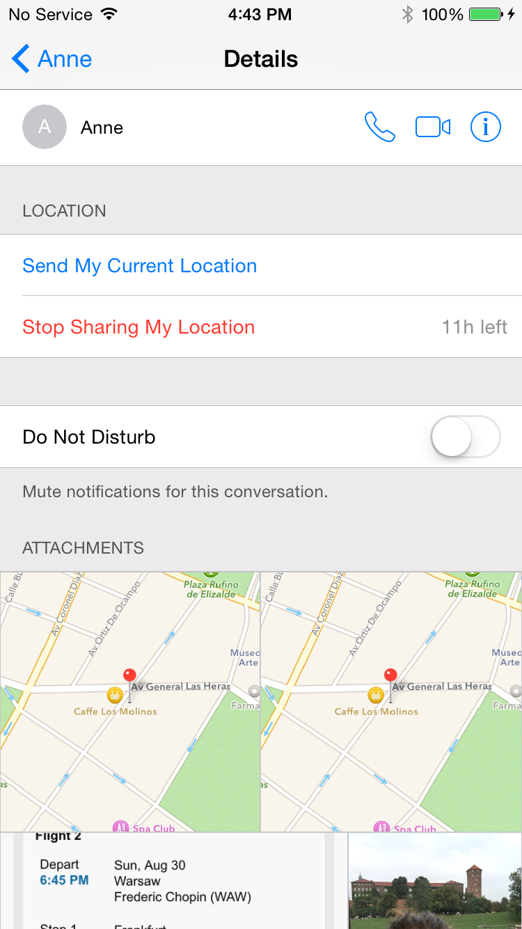 iPhone Sharing Location Step 4